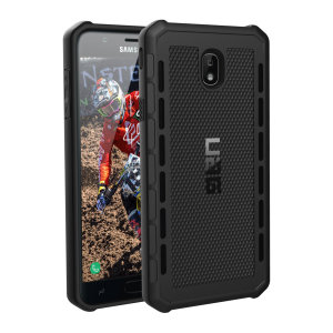 The Urban Armour Gear Outback for the Samsung Galaxy J3 2018 features a protective TPU case in black with cleverly conceived anti-skid pads and a  lightweight but rugged frame - all in one sleek protective package.