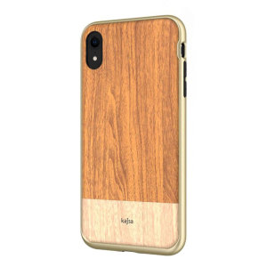 An Outdoor Collection from Kajsa provides a substantial military grade protection for your brand new iPhone XR, yet keeps it close to the nature with a beautiful light brown wood pattern print on the back.
