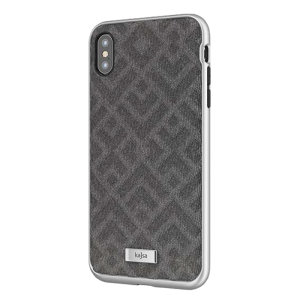 Kajsa Briquette Collection Rhombus iPhone XS Max Textured Case - Grey