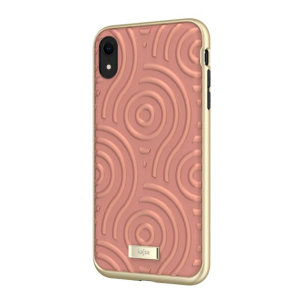 The Briquette Sphere Collection from Kajsa provides a substantial military grade protection for your iPhone XR, yet stays stylish, due to its textured design in peach. Enjoy a durable dual layered, lightweight and sleek-looking case.