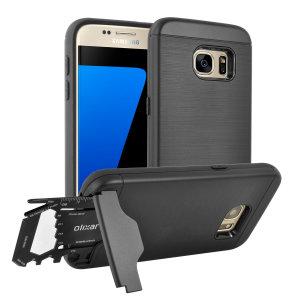Bereiten Sie Ihr Samsung Galaxy S7 mit dem robusten X-Ranger-Gehäuse für den Einsatz im Freien vor. Mit einem praktischen Kickstand und einem sicheren Fach für das mitgelieferte Multi-Tool - oder die Karte Ihrer Wahl - sind Sie für alles gerüstet.