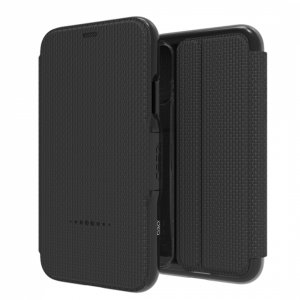 The Oxford case from GEAR4 in black is crafted in a textured material with a slim look, which offers fantastic all round protection for the iPhone XS Max. Additionally credit card slots, provide practicality.