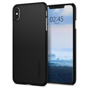 Durable and lightweight, the Spigen Thin Fit series for the iPhone XS Max offers premium protection in a slim, stylish package. Carefully designed the Thin Fit case in smooth black is form-fitted for a perfect fit.