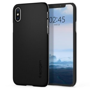 Durable and lightweight, the Spigen Thin Fit series for the iPhone XS offers premium protection in a slim, stylish package. Carefully designed the Thin Fit case in smooth black is form-fitted for a perfect fit.