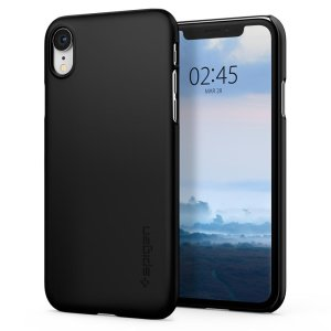 Durable and lightweight, the Spigen Thin Fit series for the iPhone XR offers premium protection in a slim, stylish package. Carefully designed the Thin Fit case in smooth black is form-fitted for a perfect fit.
