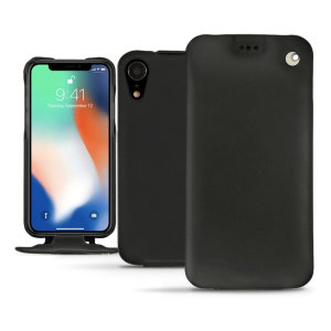 Keep your iPhone XR perfectly well protected from damage with this high quality, beautifully hand-crafted genuine premium leather flip case from Noreve. Lightweight, robust and fashionable.