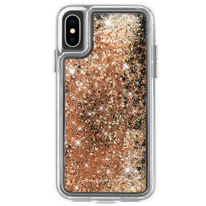 Ultra slim protection for your iPhone XS with the Case-Mate Waterfall case in gold. Featuring dual layer design and an ostentatious look, this case is built to U.S. Military standards to withstand accidental damage.