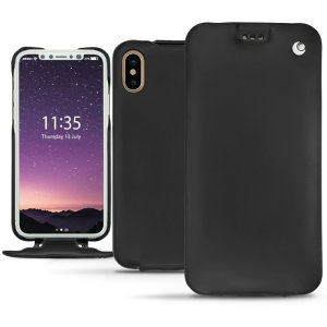 Keep your iPhone XS perfectly well protected from damage with this high quality, beautifully hand-crafted genuine premium leather flip case from Noreve. Lightweight, robust and fashionable.