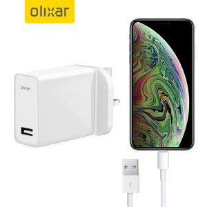 Laden Sie Ihr iPhone XS Max und jedes andere USB-Gerät schnell und bequem mit diesem kompatiblen 2,4A Hochleistungs-Blitzladekit auf. Mit einem britischen Netzteil und einem Blitzkabel.