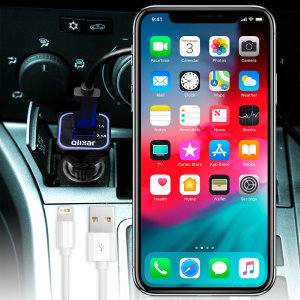 Keep your Apple iPhone XS Max fully charged on the road with this high power 2.4A Car Charger, featuring extendable spiral cord design. As an added bonus, you can charge an additional USB device from the built-in USB port!