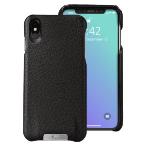 Treat your iPhone XS Max to exquisite handmade craftsmanship and the highest quality materials. Featuring genuine Floater and Caterina leather, the Vaja Grip premium leather shell case in black is something very special indeed.