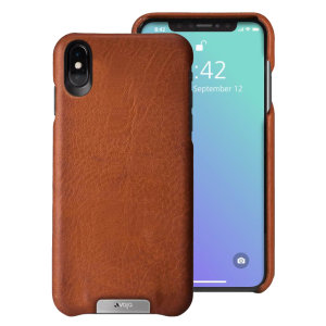 Treat your iPhone XS Max to exquisite handmade craftsmanship and the highest quality materials. Featuring genuine Floater and Caterina leather, the Vaja Grip premium leather shell case in tan is something very special indeed.