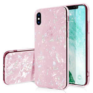 Stand out from the crowd with this Crystal Shell Case for iPhone XS Max from Olixar in pink. With it's unique crystal pattern and slim design, your iPhone will truly sparkle and shine.