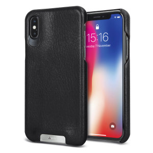 Treat your iPhone XS to exquisite handmade craftsmanship and the highest quality materials. Featuring genuine Floater and Caterina leather, the Vaja Grip premium leather shell case in black is something very special indeed.