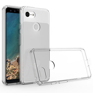 Custom moulded for the Google Pixel 3 XL, this crystal clear Olixar ExoShield tough case provides a slim fitting stylish design and reinforced corner shock protection against damage, keeping your device looking great at all times.