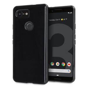 Custom moulded for the Google Pixel 3, this solid black Olixar FlexiShield case provides slim fitting and durable protection against damage.
