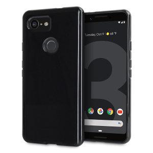 Skreddersydd til Google Pixel 3. Gel dekslet fra FlexiShield tilbyr en slank design og en holdbar beskyttelse mot skader og sørger for at din Google Pixel 3 ser bra ut lenger.