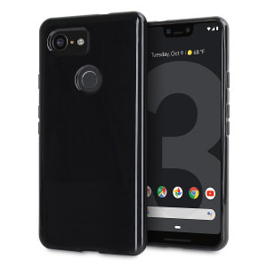 Custom moulded for the Google Pixel 3 XL, this solid black Olixar FlexiShield case provides slim fitting and durable protection against damage.