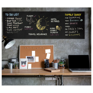 Daily memos are important for everyone so you don't forget what you have to do. This cool chalkboard allows you to keep track of all the important things going on around you. Leave notes or tasks around your home with these cool chalk colours.