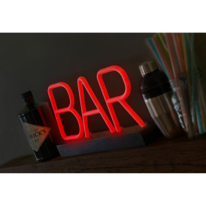 Get yourself this quirky Neon bar light to bring a cool-factor to any home or party. Perfect for special occasions, celebrations and house parties. All you need is a bit of imagination to redesign any party environment.