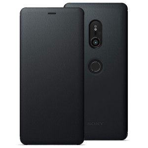 This high quality official SCSH70 bi-fold folio case from Sony houses your Xperia XZ3 smartphone, providing protection and access to your ports and features while incorporating a built-in viewing stand - in black.