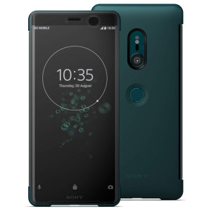 This official SCTH70 Style Cover Touch in green from Sony houses your Xperia XZ3, providing protection and full functionality through the see-through touchscreen font cover, allowing you to view and action incoming messages and calls.