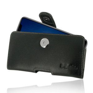 This premium leather pouch case for the iPhone XR will keep your device fully protected while remaining stylish with its soft leather finish. Featuring a magnetic fastening to securely hold your device and a robust belt clip for effortless carrying.
