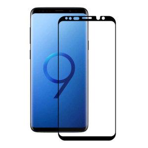 Das 3D-Glas von Eiger, das den ultimativen Bildschirmschutz für das Samsung Galaxy S9 bietet, besteht aus hochwertigem Echtglas mit abgerundeter Kante und Splitterschutzfolie.