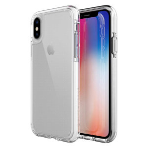 Custom moulded for the iPhone XS Max. This crystal clear Patchworks Lumina case provides a slim fitting stylish design and reinforced protection against damage, keeping your device looking great at all times.