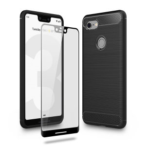 Flexible rugged casing with a premium matte finish non-slip carbon fibre and brushed metal design, the Olixar Sentinel case in black keeps your Google Pixel 3 XL protected from 360 degrees with the added bonus of a tempered glass screen protector.