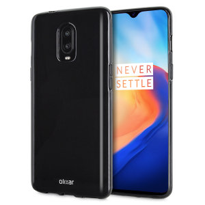 Custom moulded for the OnePlus 6T, this solid black FlexiShield case from Olixar provides a slim fitting and durable protection against damage, with an alluring jet black appearance.