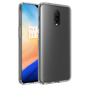 Custom moulded for the OnePlus 6T, this crystal clear Olixar ExoShield tough case provides a slim fitting, stylish design and reinforced corner protection against shock damage, keeping your device looking great at all times.