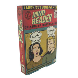 This game is the perfect opportunity to put your psychic powers to test. Great party game with comic book style features which will have you all in stitches by trying to guess the correct object names written on the thought bubble shaped headband.