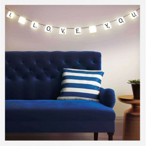 Nothing like some scrabble themed LED lights to bring back memories of one of the world's most popular games. These lights will bring warmth, sparkle and a cool-factor to any home, office, man cave or room. All you need is a little bit of imagination.
