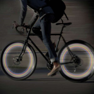 Light up the road and increase your visibility with these LED bike wheel lights. With 7 flashing settings and easy to fit, you're certain to stand out from the crowd.