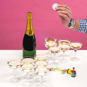 You have heard of the party game beer pong, we now bring to you a classier version of the game - Champagne Pong! So ladies and gentleman get your champagne glasses ready for an evening of fun and games with a cheeky glass of champagne.