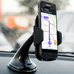 Dock your Galaxy J6 Plus safely in the car with this Genuine Samsung Universal Vehicle Dock and Windscreen Mount, ideal for when you use your J6 Plus as a Sat Nav.