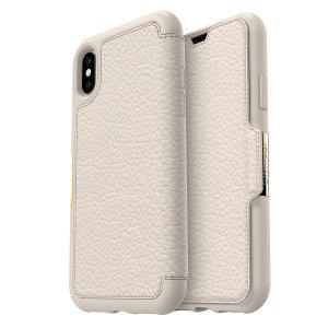 De OtterBox Strada wallet cover is een geavanceerd, lichtgewicht leren etui en biedt perfecte bescherming voor uw iPhone X, evenals slots voor uw kaarten, contanten en documenten.
