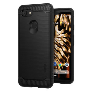 Bieten Sie Ihrem Google Pixel 3 einen eleganten, aber dennoch strapazierfähigen Schutz und einen hochwertigen gebürsteten Metall-Look mit Ringke Onyx-Gehäuse in Schwarz. Das präzise geschnittene Design und die rutschfeste Oberfläche erhalten die Ästhetik und bieten hohen Komfort.