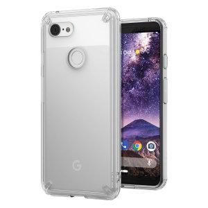 Schützen Sie die Rückseite und die Seiten Ihres Google Pixel 3 mit diesem unglaublich langlebigen und klaren Fusion Case von Ringke.