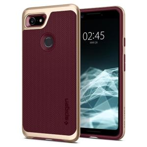 The Spigen Neo Hybrid in burgundy colour is the new leader in lightweight protective cases. Spigen's new Air Cushion Technology reduces the thickness of the case while providing optimal corner protection for your Google Pixel 3.