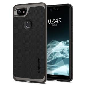 The Spigen Neo Hybrid in gunmetal colour is the new leader in lightweight protective cases. Spigen's new Air Cushion Technology reduces the thickness of the case while providing optimal corner protection for your Google Pixel 3 XL.