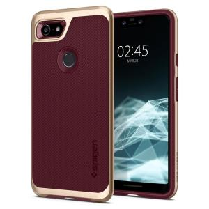 The Spigen Neo Hybrid in burgundy colour is the new leader in lightweight protective cases. Spigen's new Air Cushion Technology reduces the thickness of the case while providing optimal corner protection for your Google Pixel 3 XL.