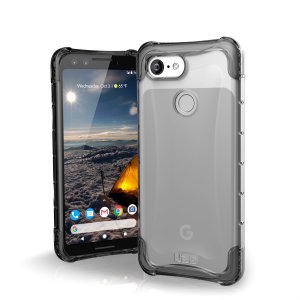 The Urban Armour Gear Plyo semi-transparent tough case in ice for the Google Pixel 3 features reinforced Air-Soft corners and an optimised honeycomb structure for superior drop and shock protection.