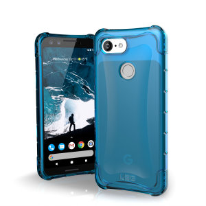 The Urban Armour Gear Plyo semi-transparent tough case in glacier blue for the Google Pixel 3 features reinforced Air-Soft corners and an optimised honeycomb structure for superior drop and shock protection.