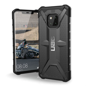 The Urban Armour Gear Plasma semi-transparent tough case in ash grey and black for the Huawei Mate 20 Pro features a protective case with a brushed metal UAG logo insert for an amazing rugged and stylish design.