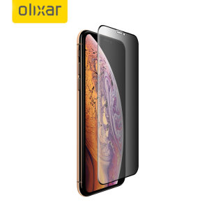 This tempered glass screen protector for the iPhone XS from Olixar has complete edge to edge screen protection, toughness, high visibility and sensitivity all in one package, with the added bonus of a privacy filter.