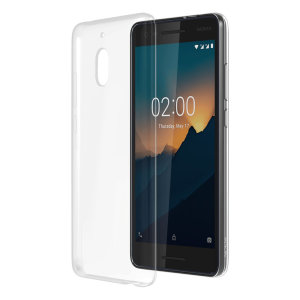 Official Nokia 2.1 Slim Crystal Silicone Case - Clear