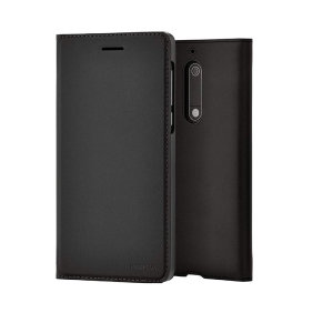 Official Nokia 5.1 Entertainment Flip Wallet Case - Black