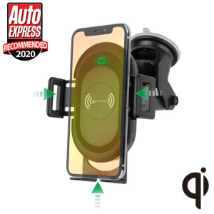Wirelessly charge your Qi-enabled device in-car with this wireless charging car holder. With it's proximity sensor and automatic mounting, this car holder by 4smarts will hold your device in position on your car dashboard or windscreen.